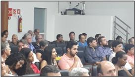Figura: Particpação dos alunos do curso de Engenharia Civil na audiência.